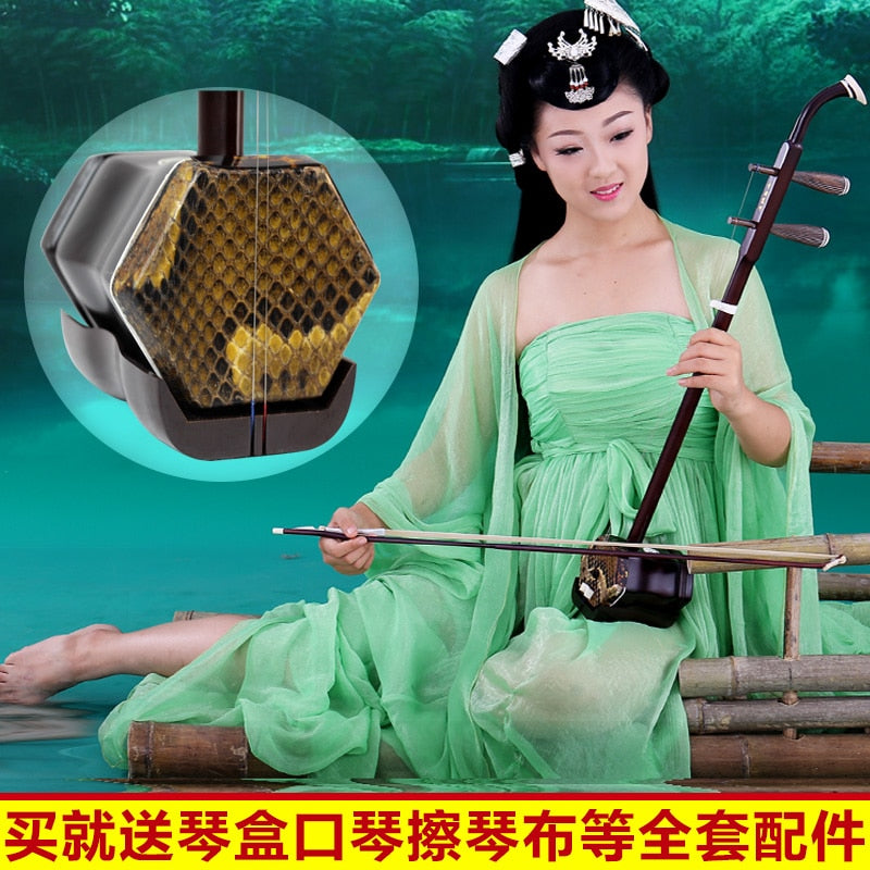 Suzhou Chinese erhu huqin national musical instruments dunhuang sale bag bow  china erhu free shipping