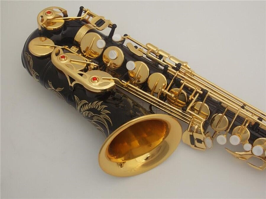 New Alto Saxophone high quality musical instruments black gold Alto Sax Beginner Professional performance and case