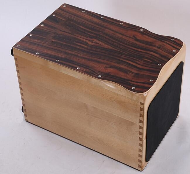 Solid wood Cajon Drum Musical instruments Grenadilla Maple Body Normal Color EMS free shipping