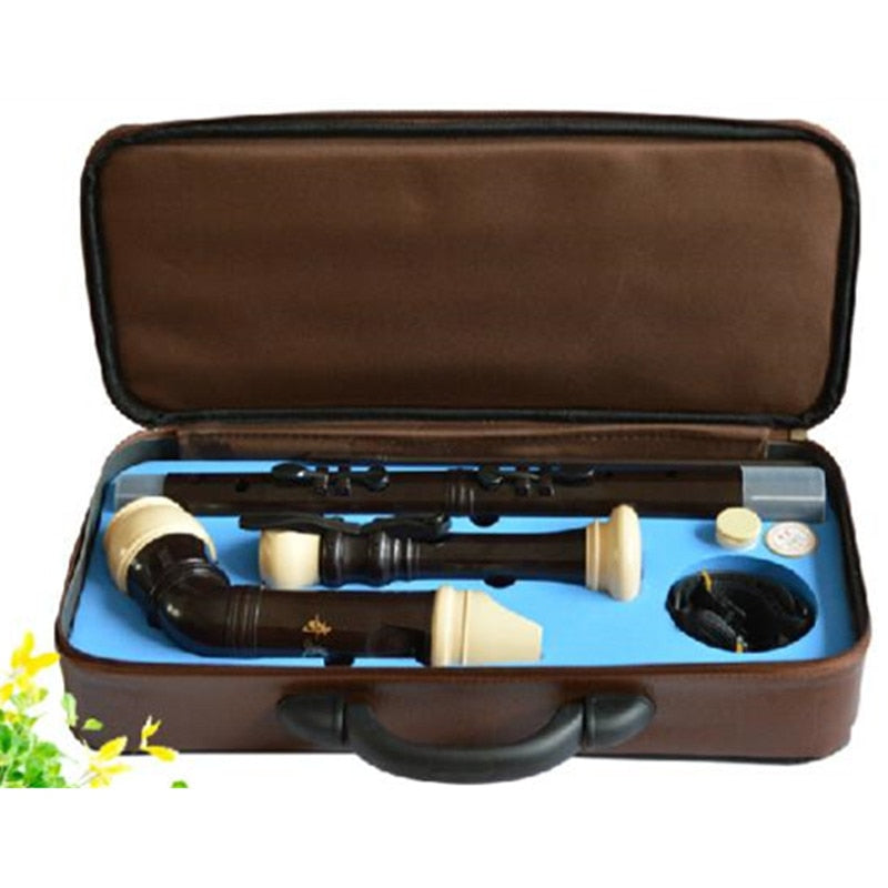 Professional 8 Holes Baroque Bass Plastic Recorder Chinese Flute  F key Musical Instrument BASS English-style Clarinet