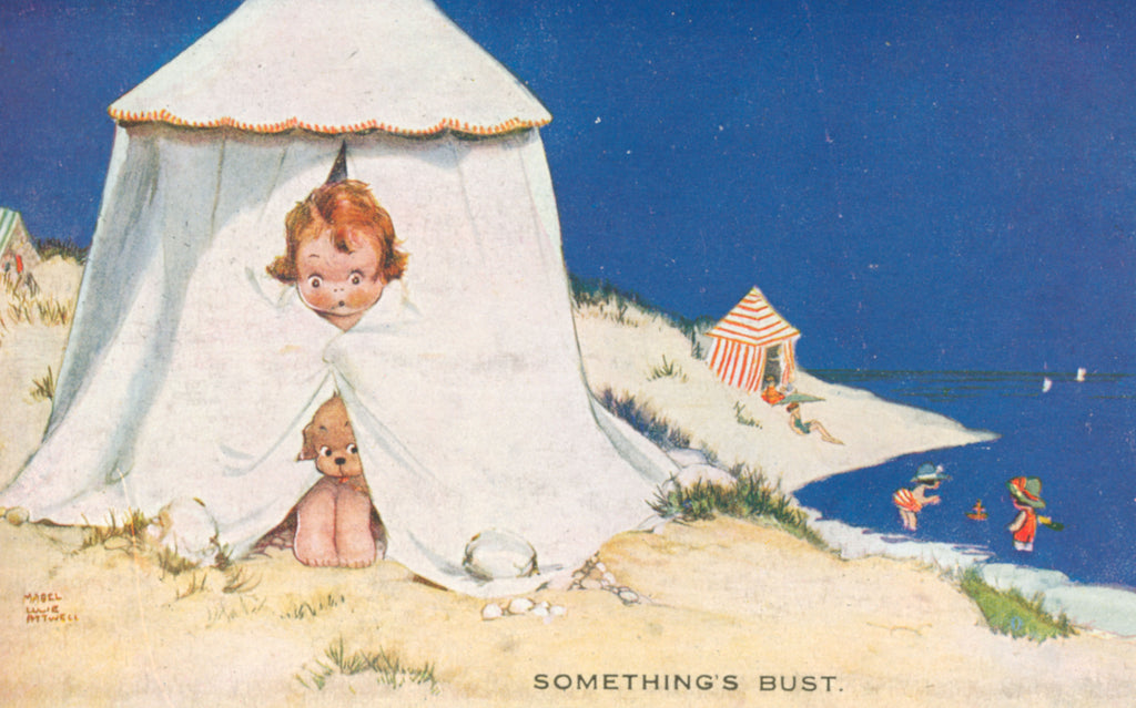 Mabel Lucie Attwell something's gone bust seaside illustration