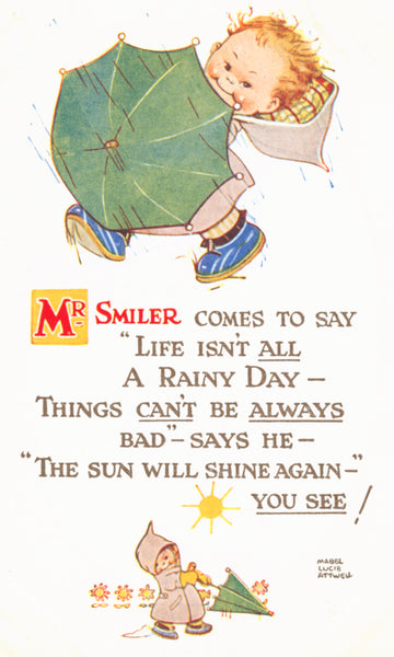 Mabel Lucie Attwell Mr Smiler illustration and verse