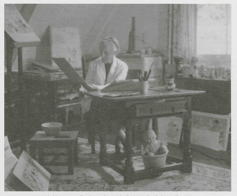 Mabel in her studio, c1961