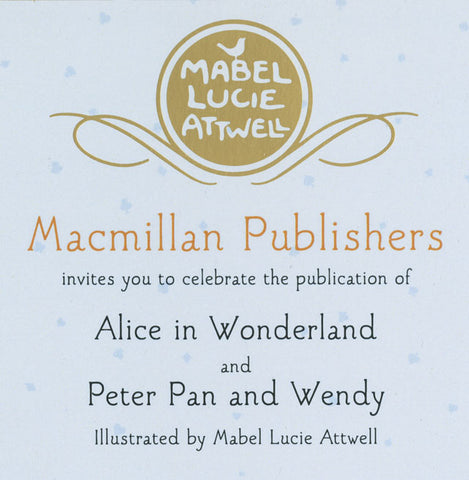 Peter Pan and Alice in Wonderland invite