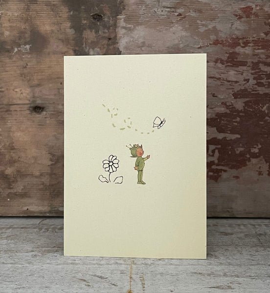 When the flowers are out… a boo-Boo's about! Greetings card