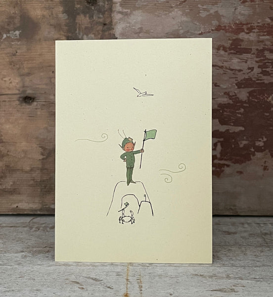 Oh I do like to be beside the seaside, I do, I do! Greetings card