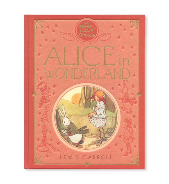 Gift edition of Alice in Wonderland by Lewis Carroll: featuring original full colour plates and line artwork by Mabel Lucie Attwell.