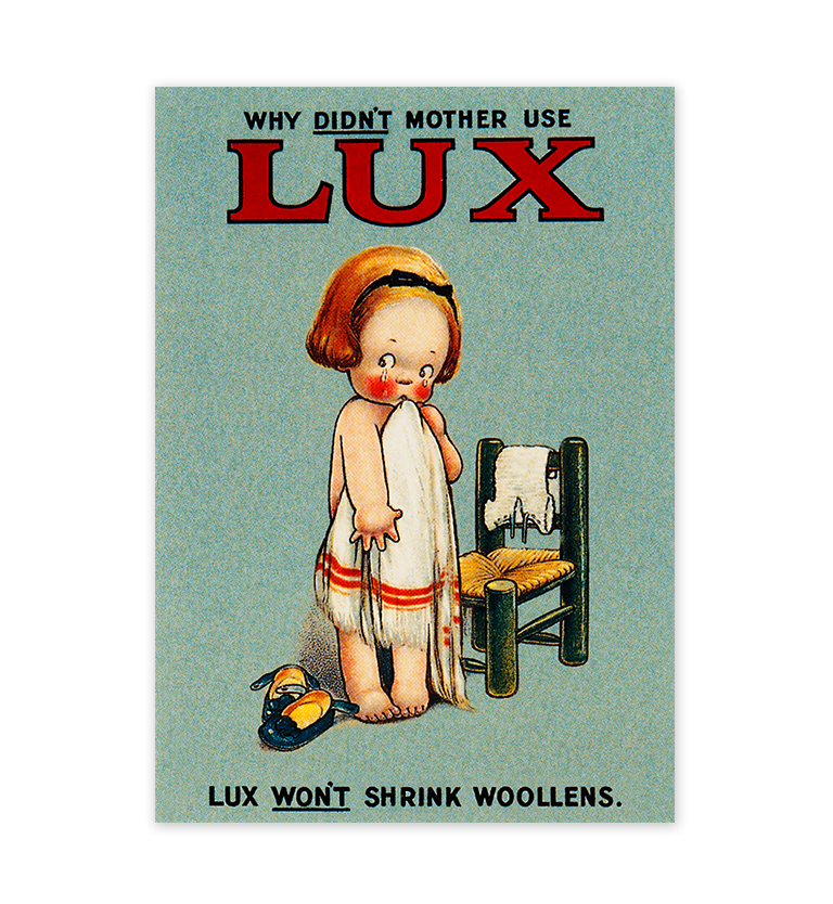 Mabel Lucie Attwell Why didn't Mother use Lux? Lux postcard