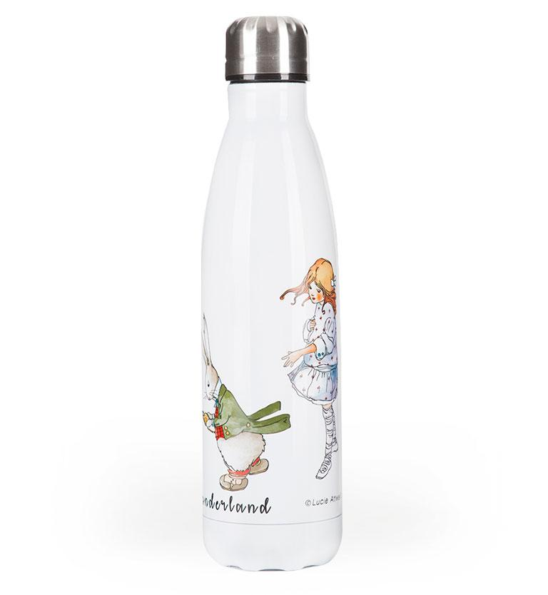 Mabel Lucie Attwell Double wall insulated drink bottle from the Alice in Wonderland collection