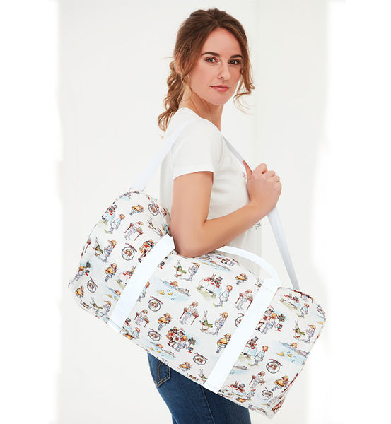 Mabel Lucie Attwell Canvas Zip Top Duffle Bag from the Alice in Wonderland collection