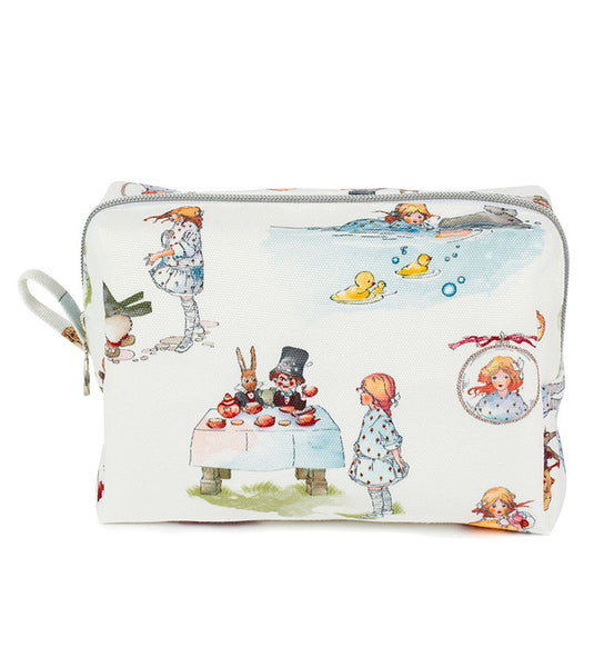 Alice in Wonderland – Canvas travel make up bag