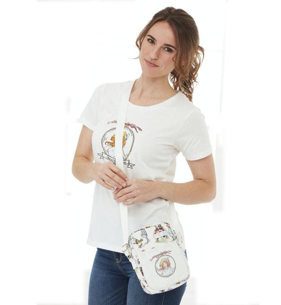 Mabel Lucie Attwell Cross body travel bag from the Alice in Wonderland collection