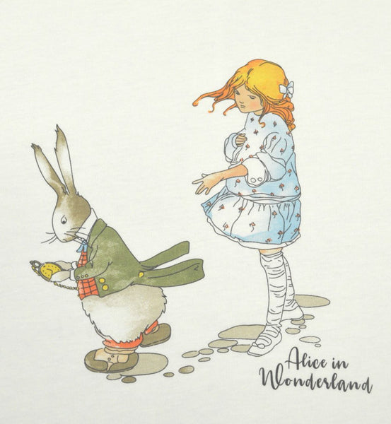 Mabel Lucie Attwell Down the Rabbit Hole Short Sleeve T-Shirt from the Alice in Wonderland collection