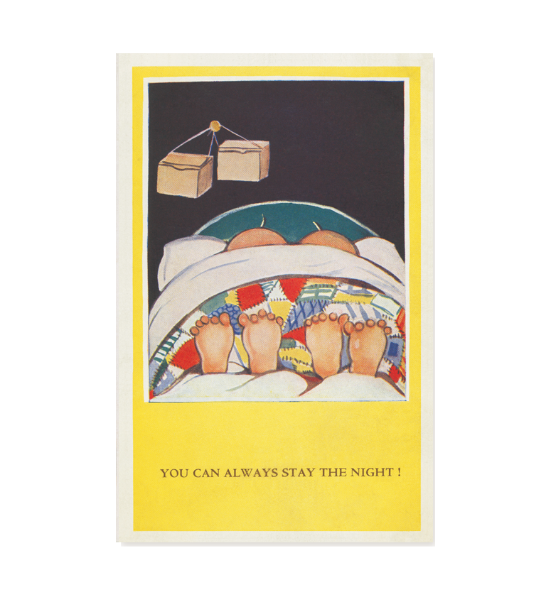 You can always stay the night! (pack of three postcards)
