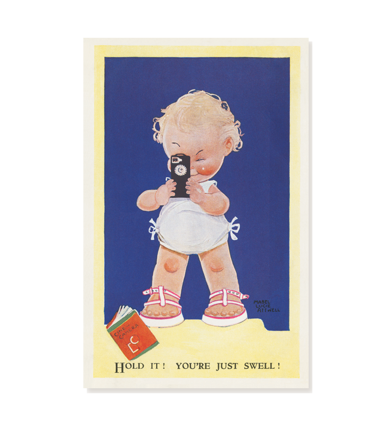 Hold it! you're just swell! (pack of three postcards)