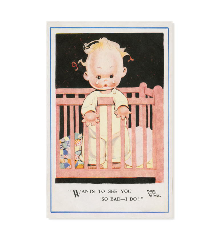 Wants to see you so bad – I do! (pack of three postcards)