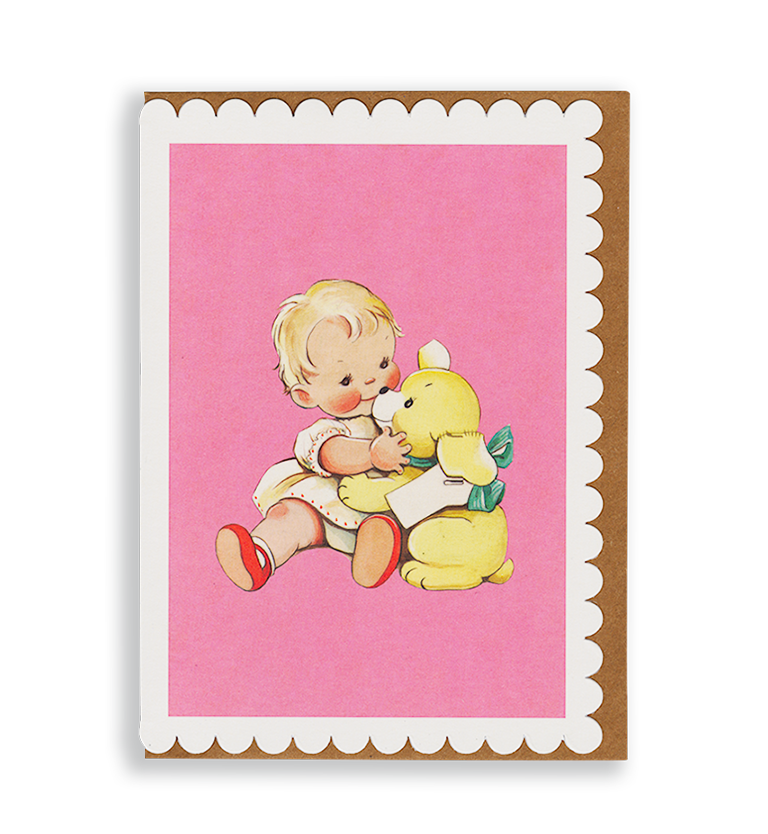 Mabel Lucie Attwell Cuddle up! Baby and Bear greetings card