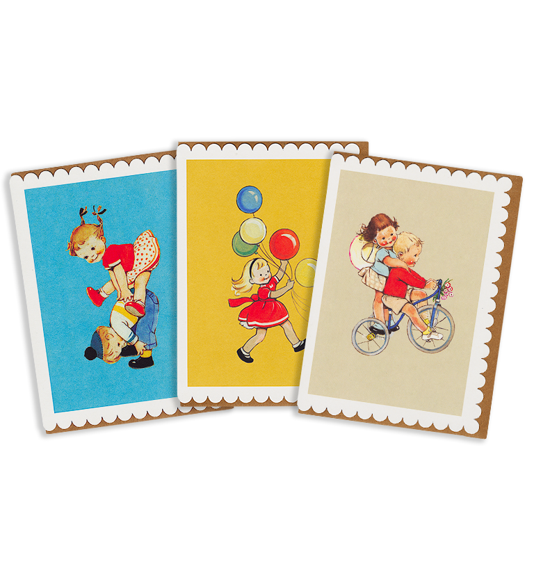 Mabel Lucie Attwell playtime greetings card pack