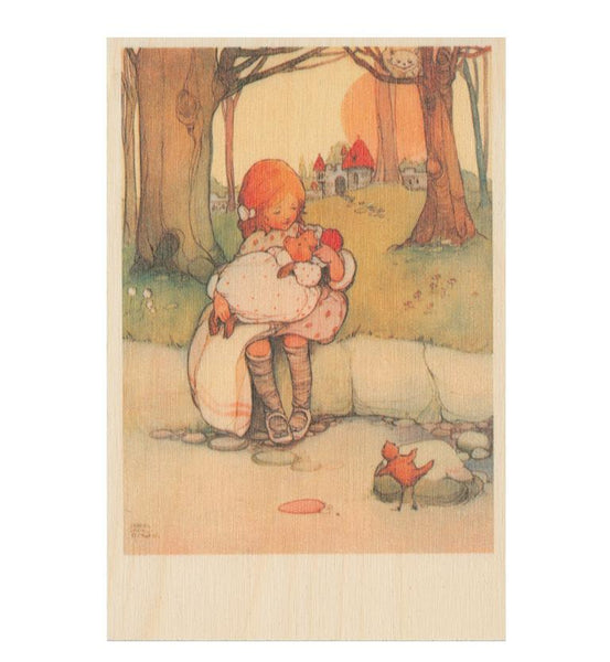 Mabel Lucie Attwell - Alice and baby wooden postcard
