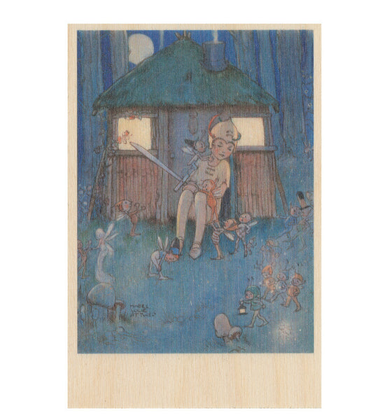Peter kept watch wooden postcard (Peter Pan and Wendy)