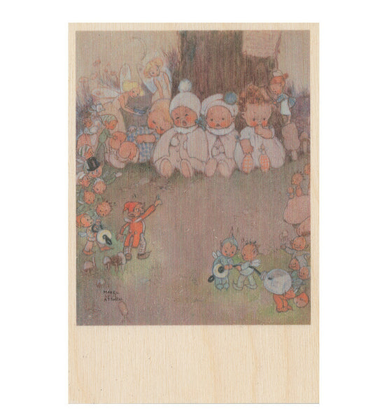 Babies wooden postcard (Peter Pan and Wendy)