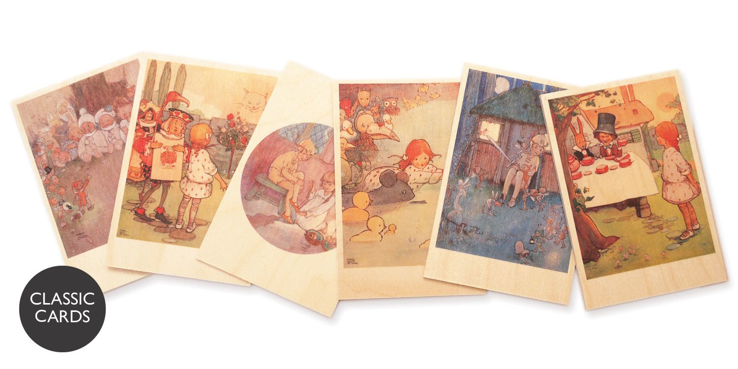 Mabel Lucie Attwell wooden postcards