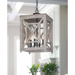 Wood Lattice Lantern