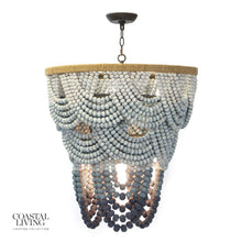 Load image into Gallery viewer, Ombre Wood Bead Chandelier