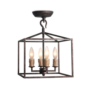 Cape Lantern Extra Small - Finish:  Blackened Iron