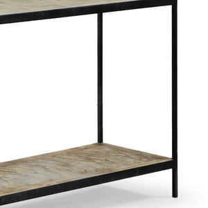 Herringbone Console Table