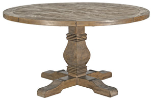 "Caleb 55"" Round Dining Table Desert Gray"