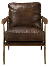Load image into Gallery viewer, Christopher Club Chair Antique Brown