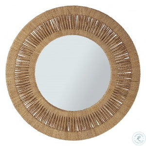 Coca Plum Round Mirror on store cottage furnishings