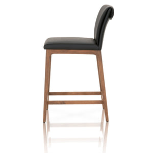 ALEX COUNTER STOOL Sable Top Grain Leather, Walnut