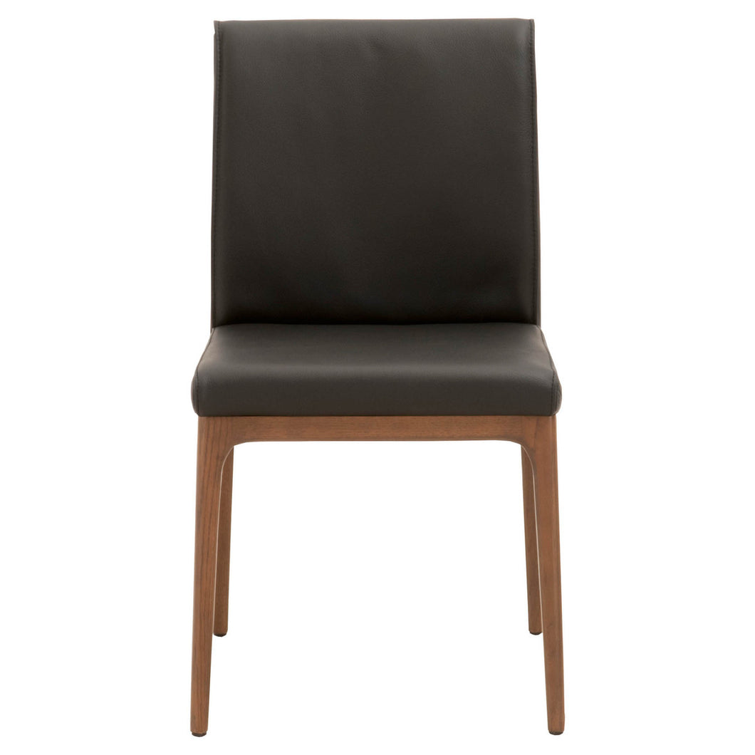 ALEX DINING CHAIR Sable Top Grain Leather, Walnut