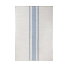 Load image into Gallery viewer, BEACHWOOD HANDWOVEN RUG - IVORY/NORDIC BLUE