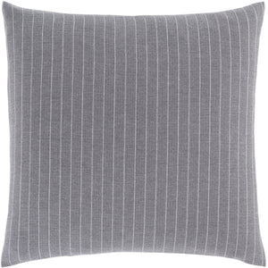 CHALK STRIPE GREY SHAM