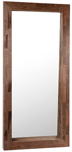 TAYLOR STANDING MIRROR WITH CUT WOOD FRAME