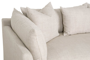 "HAVEN 110"" LOUNGE SLIPCOVER RF SECTIONAL Bisque, Espresso"