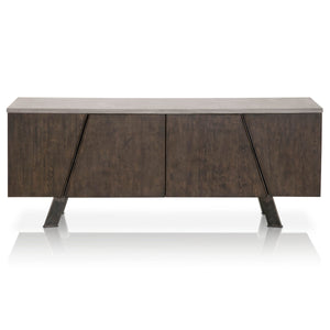 INDUSTRY MEDIA SIDEBOARD Ash Gray Concrete, Whiskey Oak