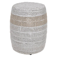 Load image into Gallery viewer, LOOM ACCENT TABLE Taupe & White Flat Rope, Taupe Stripe