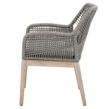Load image into Gallery viewer, LOOM OUTDOOR ARM CHAIR Platinum Rope, Smoke Gray, Gray Teak