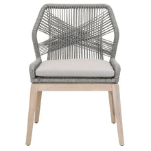 Load image into Gallery viewer, LOOM OUTDOOR DINING CHAIR Platinum Rope, Smoke Gray, Gray Teak