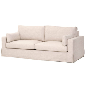 "MAXWELL 89"" SOFA Bisque French Linen"