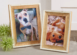 PF027 Distressed Wood Photo Frame