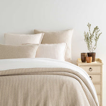 Load image into Gallery viewer, PICK STITCH NAVY MATELASSÉ COVERLET