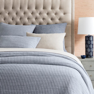 PICK STITCH NAVY MATELASSÉ COVERLET