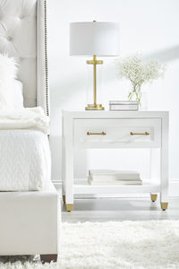 STELLA 1-DRAWER NIGHTSTAND - Matte White