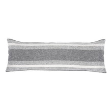 "Load image into Gallery viewer, ASPEN 14"" X 40"" PILLOW WITH INSERT - GREY/IVORY"