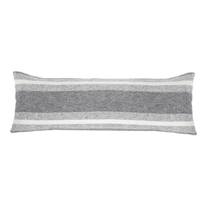 "ASPEN 14"" X 40"" PILLOW WITH INSERT - GREY/IVORY"